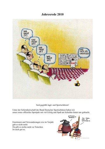 Jahresrede 2009 - Jagd & Sportschützen Marl eV