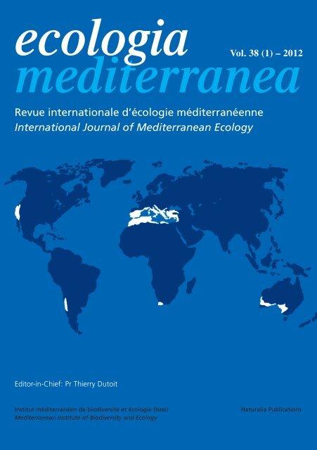 International Journal of Mediterranean Ecology - Ecologia ...