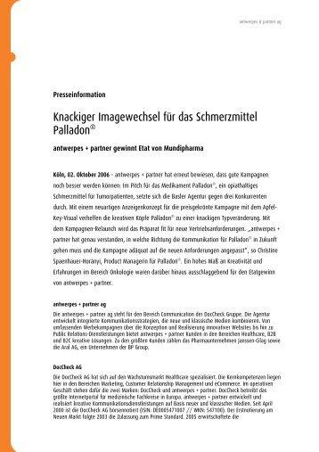 Knackiger Imagewechsel für das Schmerzmittel ... - DocCheck AG