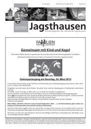 Gemeinsam mit Kind und Kegel - in der Gemeinde Jagsthausen