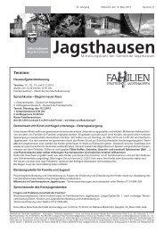Mitteilungsblatt vom 13.03.2013 - in der Gemeinde Jagsthausen