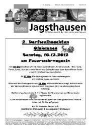Â«rn Feverwehrmagazin - in der Gemeinde Jagsthausen