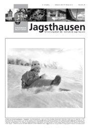 Mitteilungsblatt vom 27.02.2013 - in der Gemeinde Jagsthausen