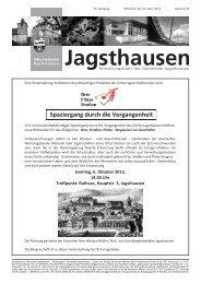 Spaziergang durch die Vergangenheit - in der Gemeinde Jagsthausen