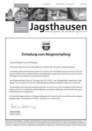 Einladung zum Bürgerempfang - in der Gemeinde Jagsthausen