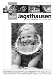 Mitteilungsblatt vom 28.08.2013 - in der Gemeinde Jagsthausen
