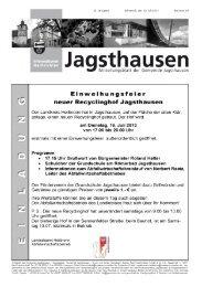 Einweihungsfeier neuer Recyclinghof Jagsthausen - in der ...