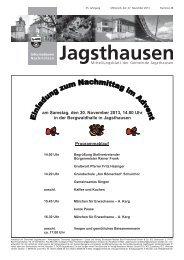 Nr. 2013/48 - Mitteilungsblatt vom 27.11.2013 - in der Gemeinde ...