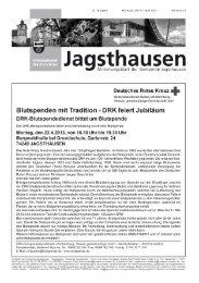 DRK feiert Jubiläum - in der Gemeinde Jagsthausen