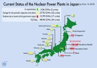 Current Status of the Nuclear Power Plants in Japan(as of Jan. 14 ...