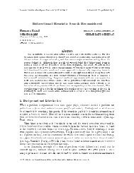 Bidirectional Heuristic Search Reconsidered - Journal of Artificial ...