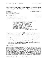 Learning Geometrically-Constrained Hidden Markov Models for ...