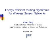 Energy-efficient routing algorithms for Wireless Sensor Networks