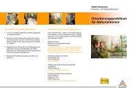 Orientierungspraktikum für Abiturientinnen - Karlsruhe