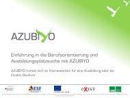 AZUBIYO: Anleitung - Staatliche Schulberatung in Bayern