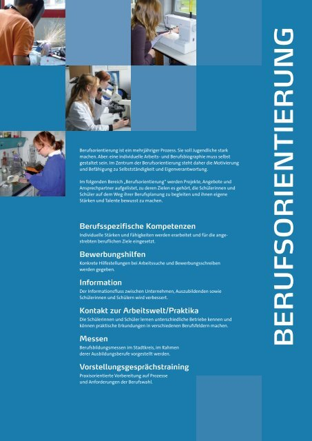 Angebote Berufsorientierung - Jugendagenturen Karlsruhe
