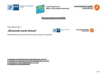 Wirtschaft macht Schule - Jugendagenturen Karlsruhe