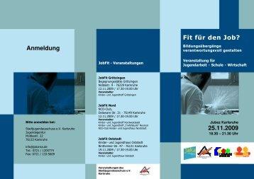 Flyer-Fit für den Job_Endversion - Jugendagenturen Karlsruhe