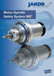 Motor-Spindle Safety System MS3 - JAKOB Antriebstechnik