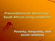 The social situation in South Africa (pp-presentation