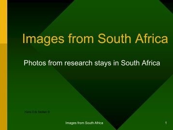 Images from South Africa - Stolten's African Studies Resources