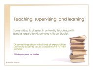 Teaching and learning - Stolten's African Studies Resources