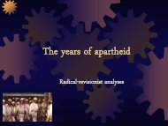 Apartheid and radical views (pp-presentation in pdf