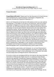 Heimatbund Siegerland-Wittgenstein e. V. Presse-Information ...