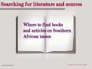 Literature search African Studies (pp-presentation in pdf