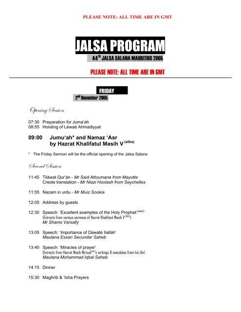 Jalsa Salana Mauritius