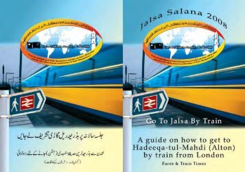 Fares And Train Times.. - Jalsa Salana