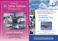 Jalsa Salana Programm (Deutsch)