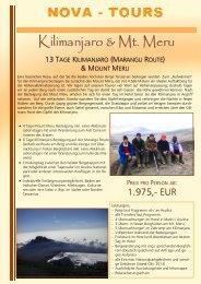 13 Tage Marangu Route & Mount Meru Besteigung - Jambo Kenya