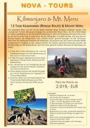 13 Tage Rongai Route & Mount Meru Besteigung - Jambo Kenya
