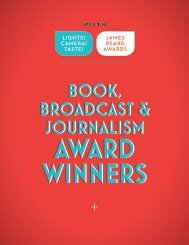 Book, Broadcast, and Journalism awards - James Beard Foundation