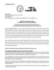james beard foundation names 2012 america's classics award