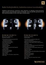 Lataa Gemini-tuotesarjan kuvasto (Pdf-muotoinen) - Nespresso