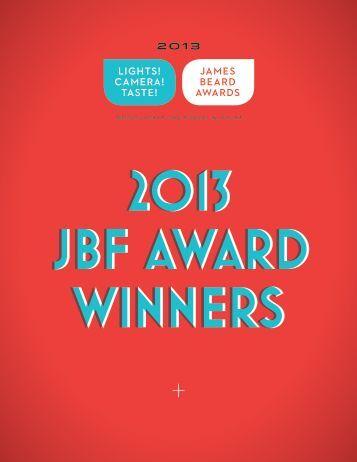The complete list of 2013 JBF Award winners! - James Beard ...