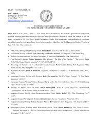 Winners Announced for the 2008 James Beard Foundation Media ...