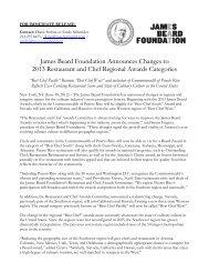 New JBF Awards Regions FINAL - James Beard Foundation