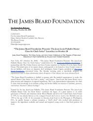 Download Press Release - James Beard Foundation
