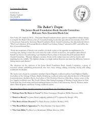 The Baker's Dozen: - James Beard Foundation