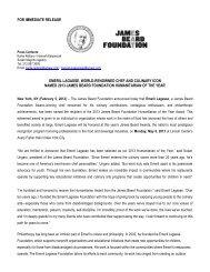 JBF Humanitarian 2013 FINAL - James Beard Foundation