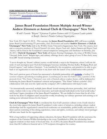 here - James Beard Foundation