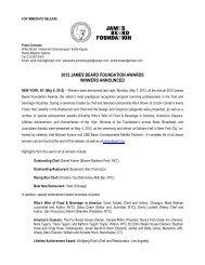 2012 James Beard Foundation Awards Winners - FINAL