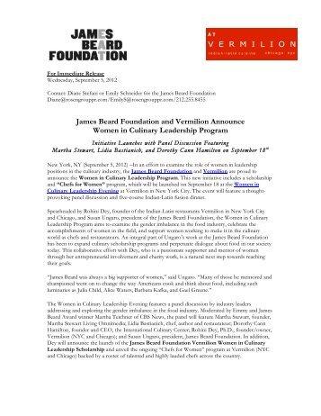 Women in Culinary Leadership Program - James Beard Foundation