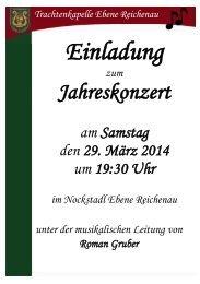 Einladung Jahreskonzert 2014