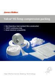 Valcor® Hi-Temp compression packing - James Walker