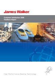 Customer Satisfaction 2008 Feedback Report - James Walker