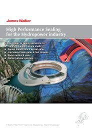 High Performance Sealing for the Hydropower ... - James Walker